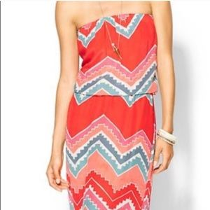 Eight Sixty strapless maxi dress in size L